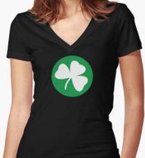 Shamrock - Boston Women's Fitted V-Neck T-Shirt