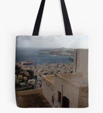 Syros harbor Tote Bag