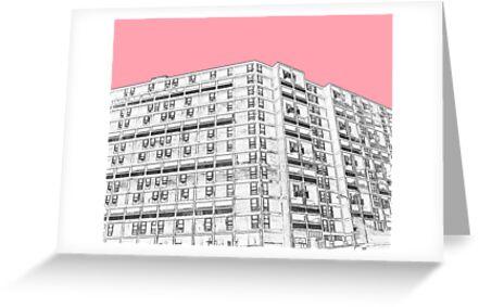 Park Hill Sheffield Pink by sidfletcher