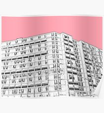 Park Hill Sheffield Pink Poster