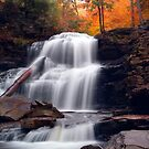 Fading October Daylight at Shawnee Falls by Gene Walls