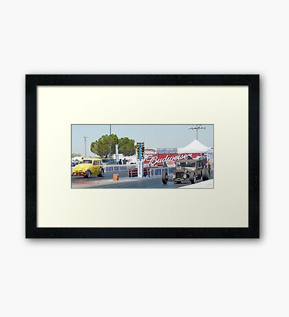 Let's Drag!  Fomosa Raceway USA; Lei Hedger Photography All Rights Reserved Framed Print