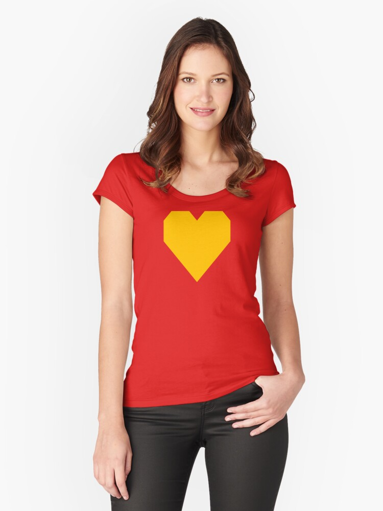 Tangerine Yellow Women's Fitted Scoop T-Shirt Front
