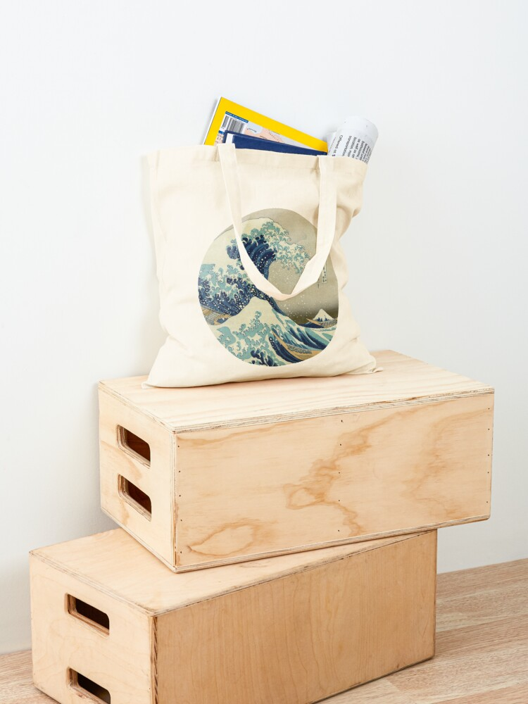 Alternate view of Great Wave off Kanagawa circle Tote Bag