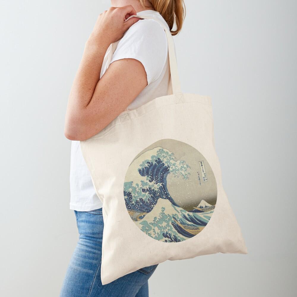 Great Wave off Kanagawa circle Tote Bag
