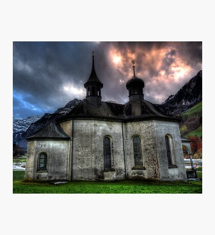 Chapel On The Hill. Photographic Print