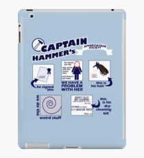 Captain Hammer's Appreciation Society iPad Case/Skin