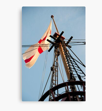The Crow's Nest: Golden Hinde, London Canvas Print