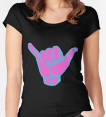 Hang Loose in Pink  Women's Fitted Scoop T-Shirt