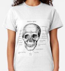 The main bones of the human skull. Classic T-Shirt