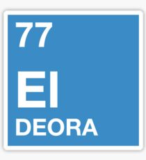 77 El Deora -Periodic Table Sticker