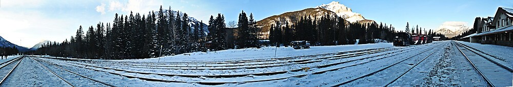 Rockies railroad panorama  by Mikaelbg