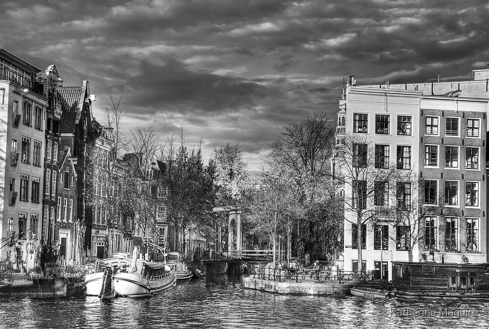A canal joining the Amstel River by Katherine Maguire