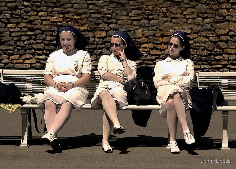 nurses lourdes by JohnHDodds