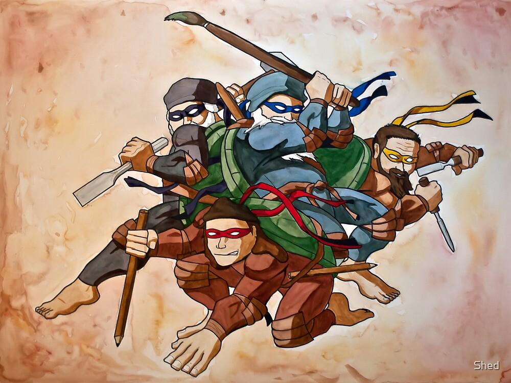Dead Genius Ninja Artists by Joao Ferraz