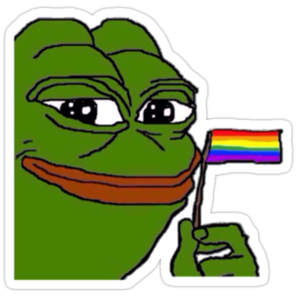 Quot Gay Pepe Quot Stickers By Rileypls Redbubble