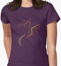 The purple Dragon Women's Fitted T-Shirt