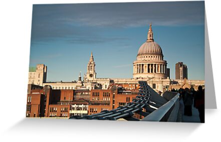 St Paul's Cathedral from the Millennium Bridge, London, UK. by DonDavisUK