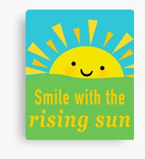 Smile With the Sun Canvas Print