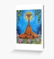 Giraffe Buddha Greeting Card