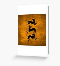 Three Hounds 2 Greeting Card