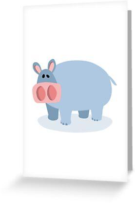 Cartoon Hippo by Colin Cramm
