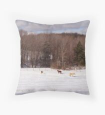 Scenic Farmland Throw Pillow