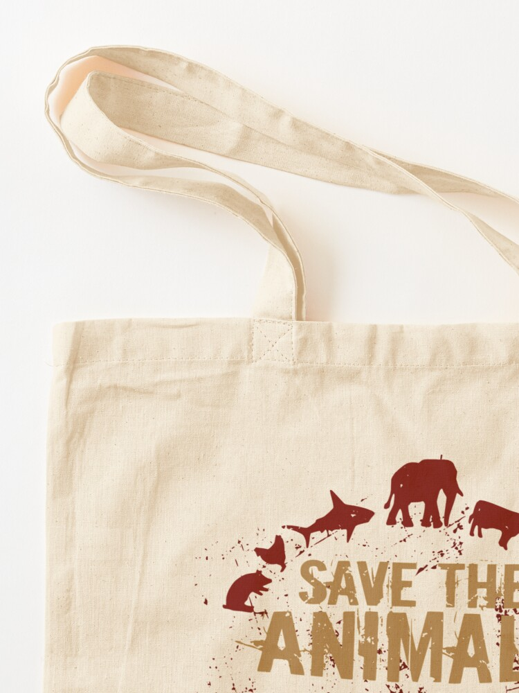 Alternate view of save the animals, EAT PEOPLE Tote Bag
