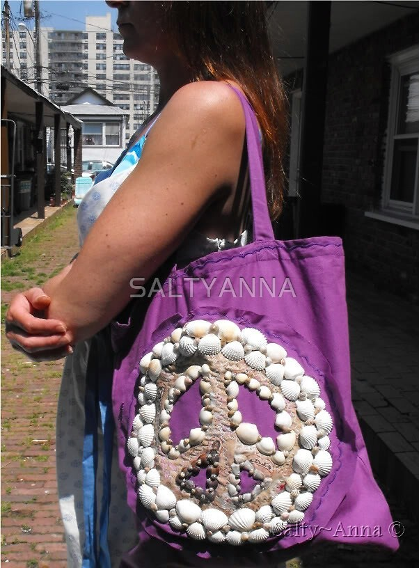 SHELL PEACE TOTE by SALTYANNA