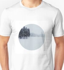 The earth lay white under the night sky T-Shirt