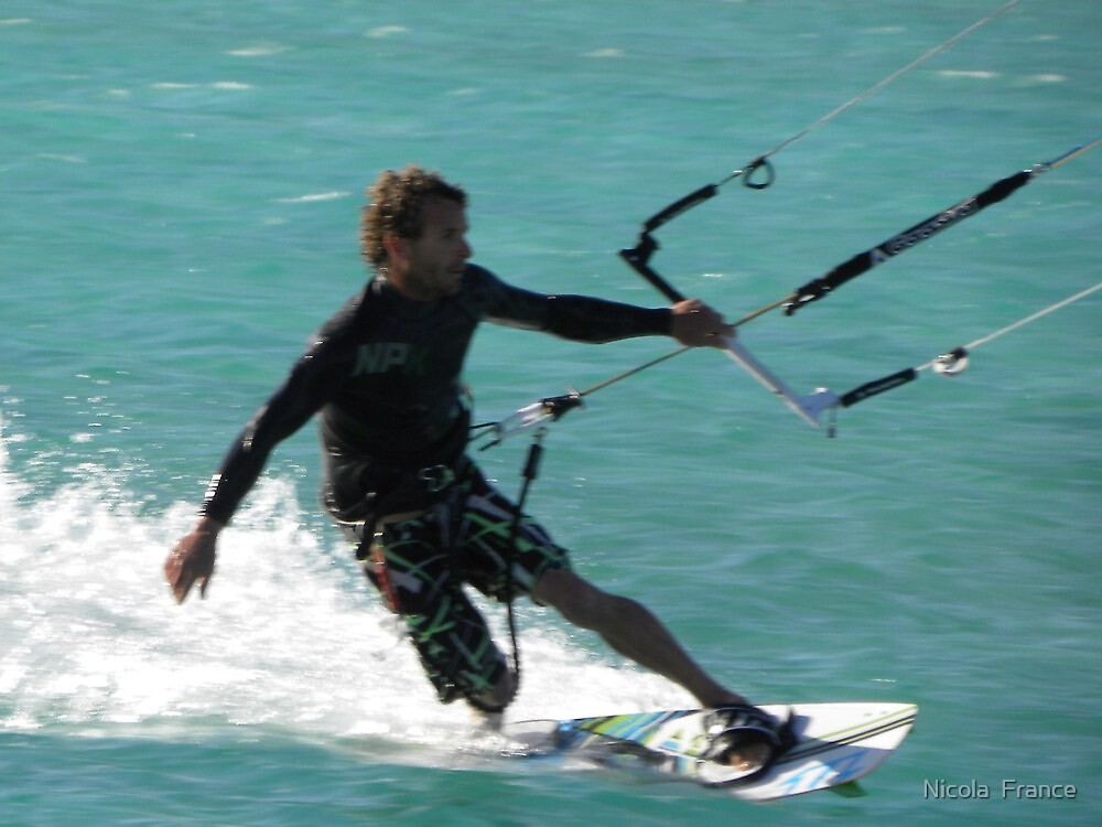 Kite surfing by Nicola  France