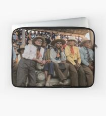 Crow Native Americans watching the rodeo at Crow fair in Montana, 1941 Laptop Sleeve