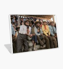 Crow Native Americans watching the rodeo at Crow fair in Montana, 1941 Laptop Skin