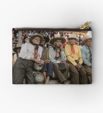 Crow Native Americans watching the rodeo at Crow fair in Montana, 1941 Zipper Pouch