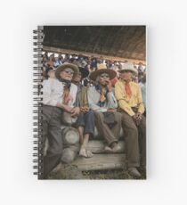 Crow Native Americans watching the rodeo at Crow fair in Montana, 1941 Spiral Notebook