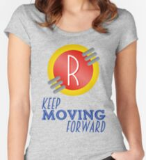 Keep Moving Forward - Meet the Robinsons Women's Fitted Scoop T-Shirt