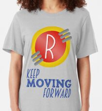 Keep Moving Forward - Meet the Robinsons Slim Fit T-Shirt