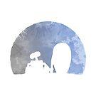 Mond inspiriert Silhouette von InspiredShadows