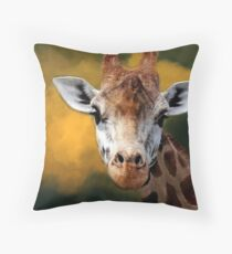 """Mr Giraffe..."" Throw Pillow"