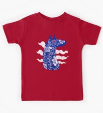 The Water Horse in Blue and White Kids Tee
