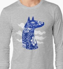 The Water Horse in Blue and White Long Sleeve T-Shirt