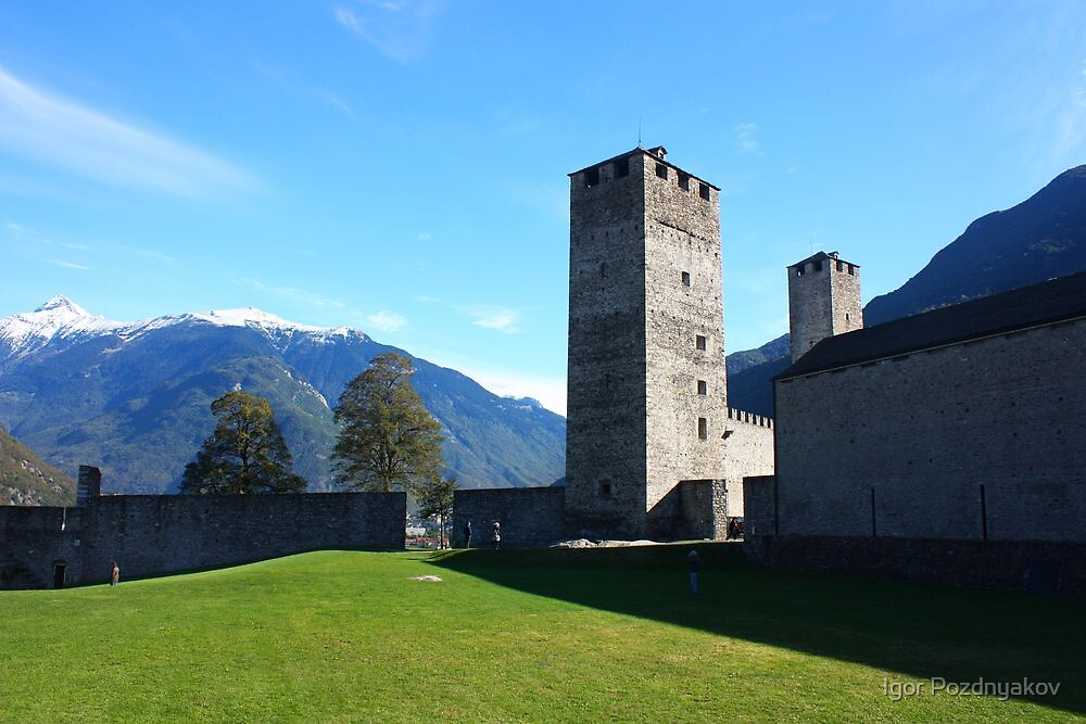 Castello Grande, Courtyard. Ticino, Switzerland 2010 by Igor Pozdnyakov