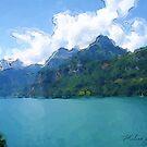 Vibrant Lake by Malinee Ganahl