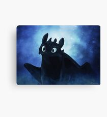 Toothless - painting Canvas Print