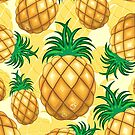 Pineapple Juicy Pattern by BluedarkArt