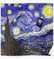 Tardis Starry Night Poster