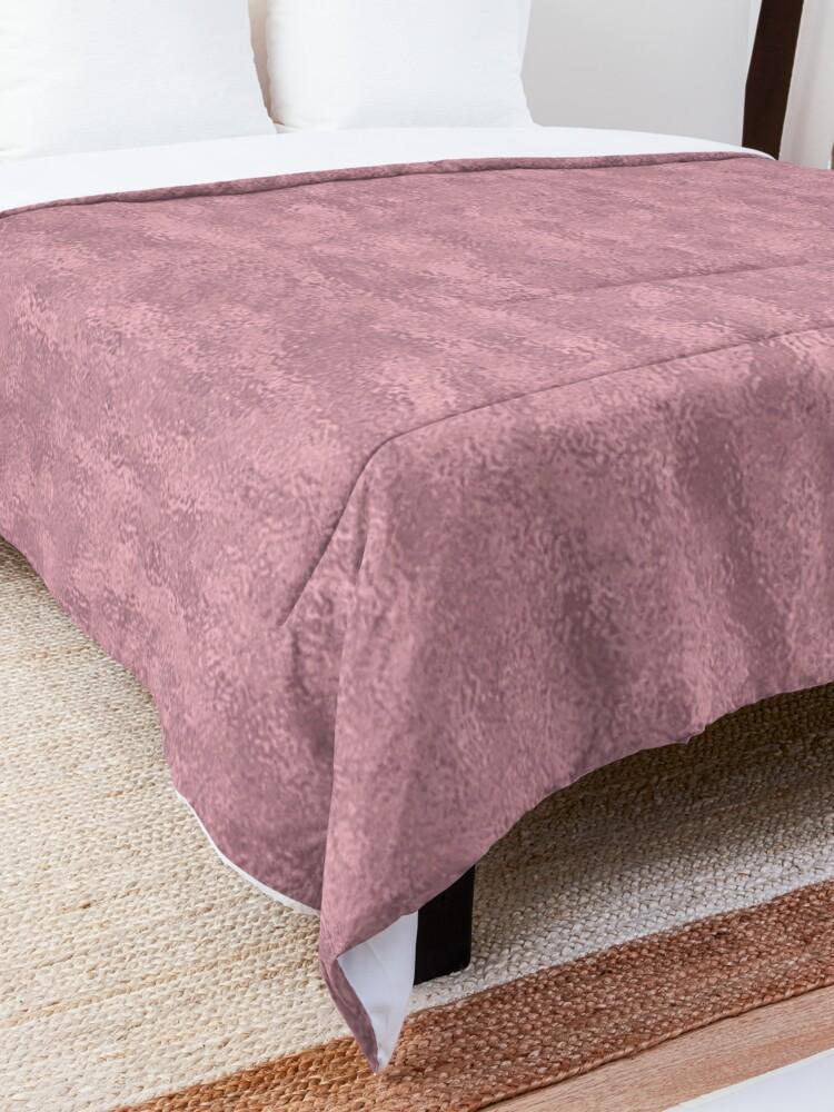 Alternate view of Light Crinkled Blush Foil Comforter