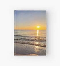 Sunset on Old Silver Beach Hardcover Journal