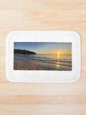 Sunset on Old Silver Beach Bath Mat