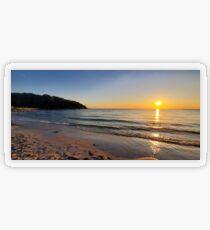 Sunset on Old Silver Beach Transparent Sticker